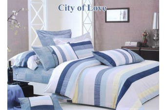 2020 New All Size Bed Doona Quilt Duvet Cover Set 100% Cotton Premium Bedding-City of Love