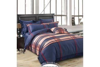 2020 New All Size Bed Doona Quilt Duvet Cover Set 100% Cotton Premium Bedding-Deep Navy