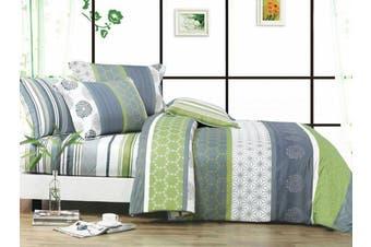2020 New Single Size Bed Doona Quilt Duvet Cover Set 100% Cotton Premium Bedding-Dexter
