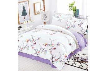 2020 New Single Size Bed Doona Quilt Duvet Cover Set 100% Cotton Premium Bedding-Spring Eva