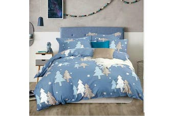 2020 New All Size Bed Doona Quilt Duvet Cover Set 100% Cotton Premium Bedding-Xmas Tree