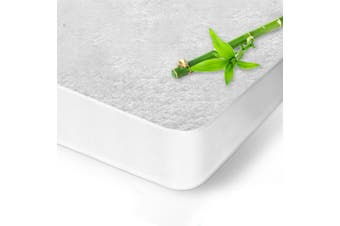 All Size Fully Fitted Waterproof Cotton Bamboo Fibre Mattress Protector Cover-BambooFibre-KingSingle