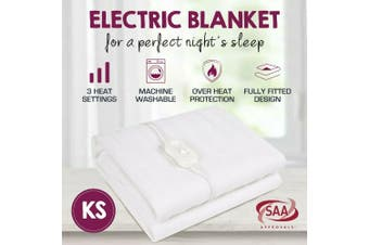 Fully Fitted Washable Non Woven Polyester Electric Blanket Heated Pad-King Single