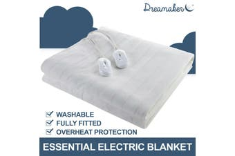 Dreamaker Electric Blanket EXTRA Soft Fully Fitted Heated Underblanket Winter-King Single