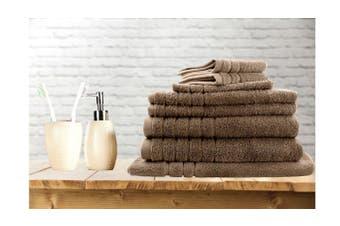 7 Pieces Bath Towels Set Egyptian Cotton 620GSM Spa Quality -Latte