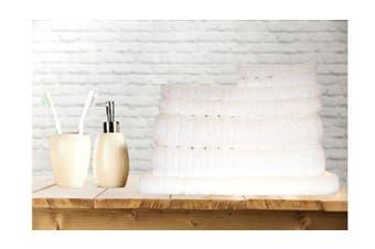 7 Pieces Bath Towels Set Egyptian Cotton 620GSM Spa Quality -White