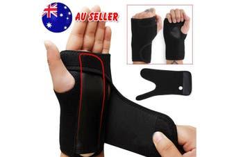 Wrist Support Splint Carpal Steel Tunnel Syndrome Sprain Strain Bandage Brace OZ-For Left Hand Only