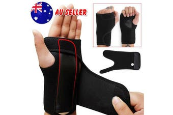 Wrist Support Splint Carpal Steel Tunnel Syndrome Sprain Strain Bandage Brace OZ-For Right Hand Only
