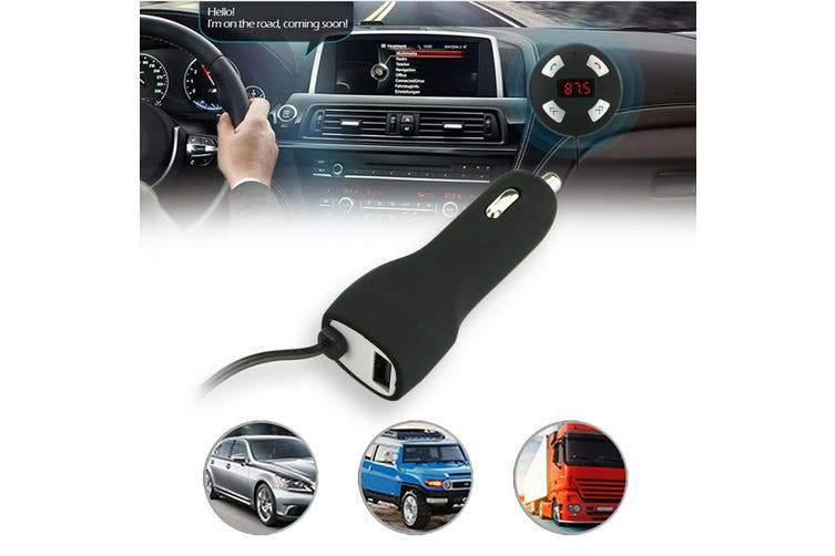 Wireless Bluetooth Car Kit FM Transmitter Handsfree Radio MP3 Player USB Charger