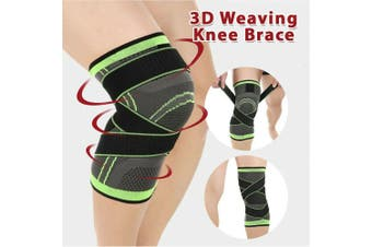 3D Weaving Knee Brace Breathable Sleeve Support Running Jogging Sports Leg AU-Size M