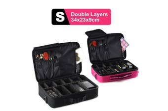 Portable Makeup Bag Cosmetic Make up Case Storage Box Travel Size S-Black