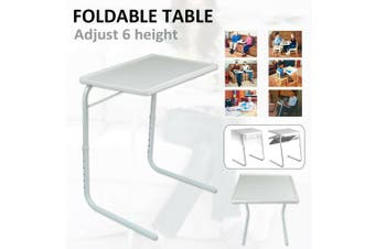 FOLDABLE TABLE LAPTOP ADJUSTABLE TRAY BED PORTABLE DESK MATE TV DINNER AU Stock