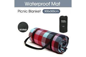 Large Picnic Blanket Premium Cashmere Rug Waterproof Mat Outdoor 300X300cm
