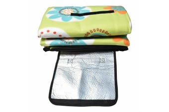 Large 3-Layers Soft Picnic Blanket Rug Waterproof Mat Camping Beach 2mX 2m-Floral