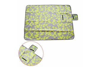 Large 3-Layers Soft Picnic Blanket Rug Waterproof Mat Camping Beach 2mX 2m-Green Leaves