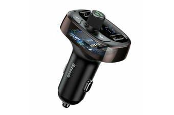 Baseus Handsfree Wireless Bluetooth Car Kit FM Transmitter MP3 Player USB Charge Coffee