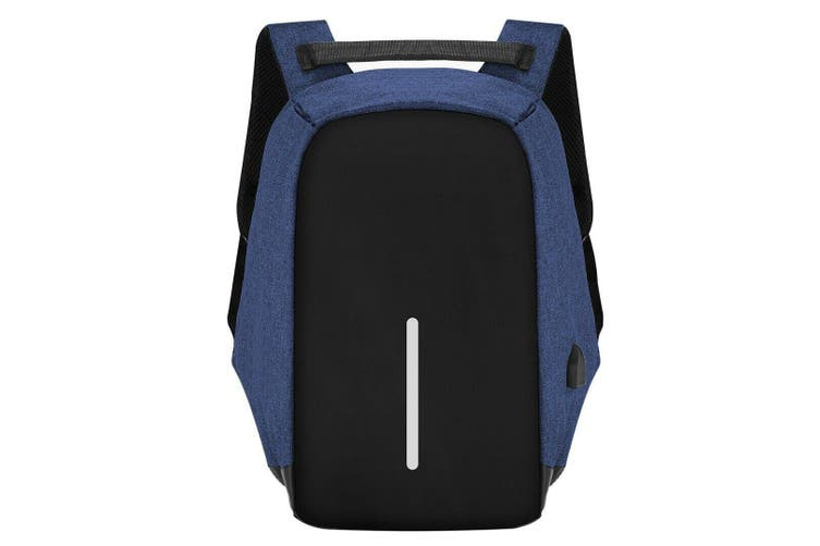 Anti-theft Mens Womens USB Charging Backpack Laptop Notebook Travel School Bag-Black