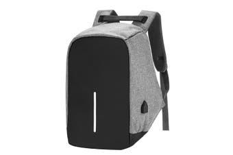 Anti-theft Mens Womens USB Charging Backpack Laptop Notebook Travel School Bag-Grey