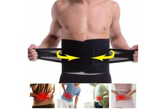 Deluxe Neoprene Back Support Belt Lumbar Support Waist Lower Back Support Brace-Large