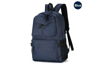 Men's USB Backpack Women Shoulder Laptop School Bag Travel Luggage Rucksack AU-Blue