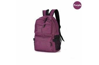 Men's USB Backpack Women Shoulder Laptop School Bag Travel Luggage Rucksack AU-Purple