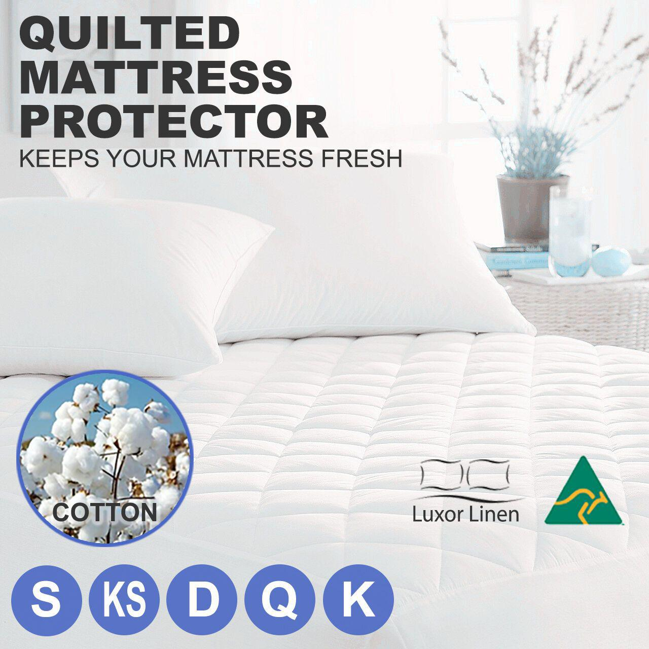 Quilted Mattress Bed Protector Topper Fitted Cover All Sizes Mattress Toppers Protectors Home Furniture Diy Plastpath Com Br