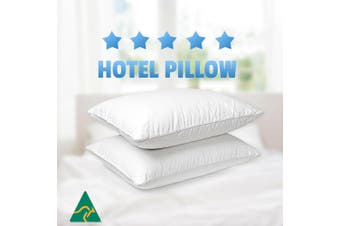 2x Aus Made Microfibre Hotel Pillow Cotton Cover -Altern to Down/Latex/Mem