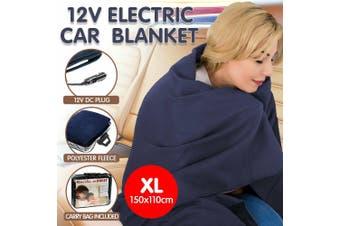 HEATED CAR BLANKET TRAVEL RUG SOFT CARAVAN FLEECE ELECTRIC THROW 12 VOLT DC AUTO
