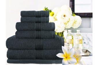Ramesses 100% Egyptian Cotton Towel Set | 7 Or 14pc Set | Luxury Egyptian Towels- 14pc Set/ Black