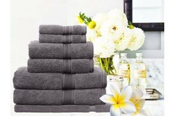 Ramesses 100% Egyptian Cotton Towel Set | 7 Or 14pc Set | Luxury Egyptian Towels- 14pc Set/ Charcoal