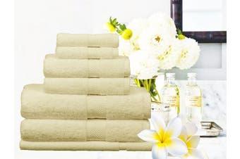 Ramesses 100% Egyptian Cotton Towel Set | 7 Or 14pc Set | Luxury Egyptian Towels- 14pc Set/ Cream