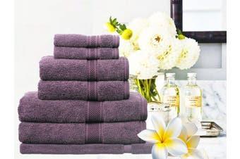 Ramesses 100% Egyptian Cotton Towel Set | 7 Or 14pc Set | Luxury Egyptian Towels- 7pc Set/ Aubergine