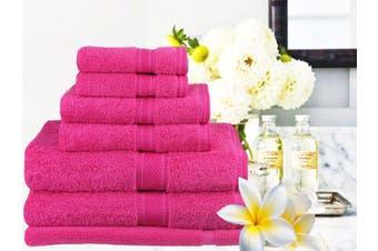 Ramesses 100% Egyptian Cotton Towel Set | 7 Or 14pc Set | Luxury Egyptian Towels- 7pc Set/ Fuschia