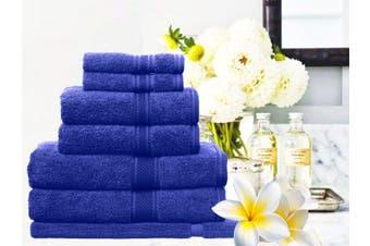 Ramesses 100% Egyptian Cotton Towel Set | 7 Or 14pc Set | Luxury Egyptian Towels- 7pc Set/ Royal Blue