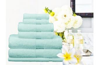 Ramesses 100% Egyptian Cotton Towel Set | 7 Or 14pc Set | Luxury Egyptian Towels- 7pc Set/ Soft Aqua