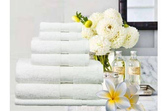 Ramesses 100% Egyptian Cotton Towel Set | 7 Or 14pc Set | Luxury Egyptian Towels- 7pc Set/ White