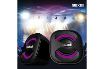 Computer Speakers Hitachi Maxell Quatro 2 USB Powered Bass Loud Style PC Speaker