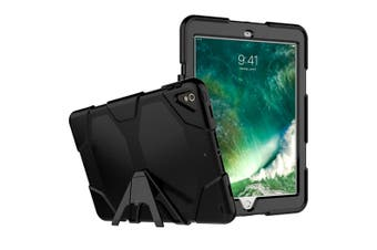 Shockproof Case Heavy Duty Tough Kick Children Kids Hard Stand Cover For iPad 7th 10.2'' Inch 2019-Black