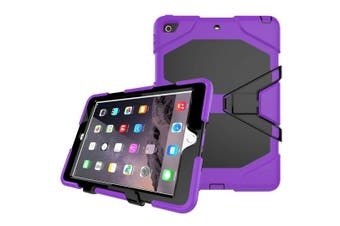 Shockproof Case Heavy Duty Tough Kick Children Kids Hard Stand Cover For iPad Air 2-Purple