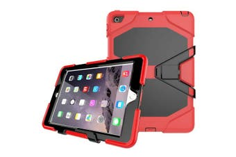 Shockproof Case Heavy Duty Tough Kick Children Kids Hard Stand Cover For iPad Air 2-Red