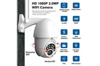 4X Zoom 1080P WiFi Dome Camera P2P Mini Wireless Security Night Vision Outdoor-Wifi camera
