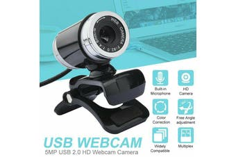 USB 2.0 Webcam Web Camera HD Video Cam & Microphone For PC Computer Laptop