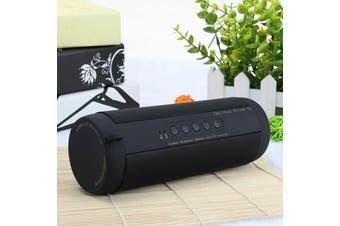 【Waterproof】Portable Wireless Bluetooth bass Stereo Music Waterproof Speaker-Black