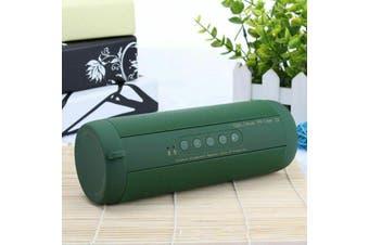 【Waterproof】Portable Wireless Bluetooth bass Stereo Music Waterproof Speaker-Green