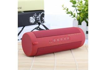 【Waterproof】Portable Wireless Bluetooth bass Stereo Music Waterproof Speaker-Red