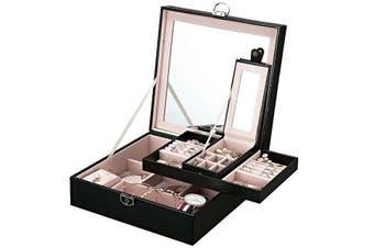【Mirror】Jewellery Box Cosmetic Makeup Organizer Double Layer Drawer Storage