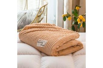 Cuddly Solid Soft Warm Flannel Throw Sofa Bed Blanket Flannel Rug All Size 100X120cm-939