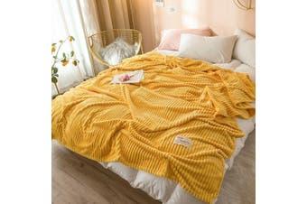 Cuddly Solid Soft Warm Flannel Throw Sofa Bed Blanket Flannel Rug All Size 120x200cm-938