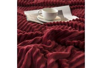 Cuddly Solid Soft Warm Flannel Throw Sofa Bed Blanket Flannel Rug All Size 150x200cm-937
