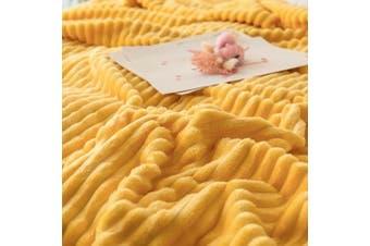 Cuddly Solid Soft Warm Flannel Throw Sofa Bed Blanket Flannel Rug All Size 150x200cm-938